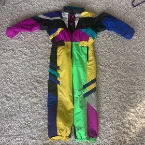 Obermeyer colorful vintage snowsuit